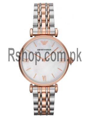 Emporio Armani Retro Round Analog Mother of Pearl dial Ladies Watch AR1683  (Same as Original) Price in Pakistan