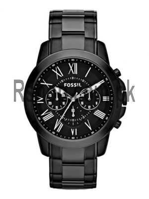 Fossil Grant Chronograph Black Stainless Steel Watch FS4832   (Same as Original) Price in Pakistan