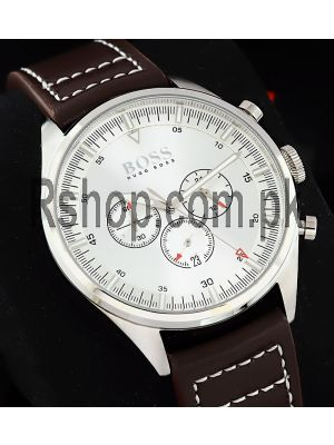 Hugo Boss Champion 44mm Silver Dial Chronograph Watch Price in Pakistan